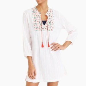 J by J Crew Tunic or Beach Cover Up Gauze Cherries
